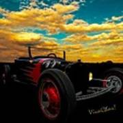 Model T Rat Rod Ride Cruisin Out At Sunset Poster
