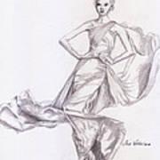 Modeling A Dress Poster