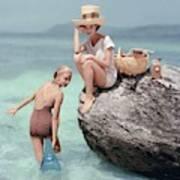 Models At A Beach Poster