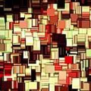 Modern Abstract Art Xvii Poster