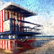 Modern-art Miami Beach Watchtower Poster