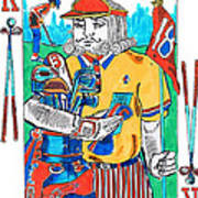 Modern King O' Clubs Poster