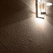 Modern Lamp On Concrete Wall Poster