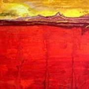 Mojave Dawn Original Painting Poster