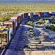 Mojave Desert Train By Diana Sainz Poster