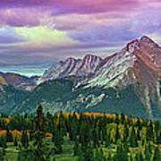Molas Pass Sunset Panorama Poster