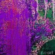 Molten Earth Purple Poster