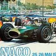 Monaco F1 Grand Prix 1968 Poster