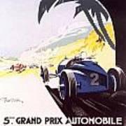 Monaco Grand Prix 1933 Poster