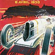 Monaco Grand Prix Vintage Poster Poster