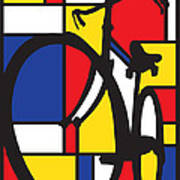Mondrian Bike Poster