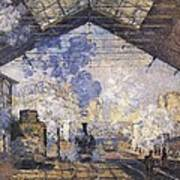 Monet, Claude 1840-1926. The Gare St Poster by Everett