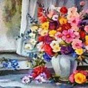 Monet Floral Edged Poster