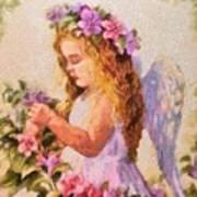 Monet Silked Angel Poster