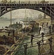 Monet The Coalmen 1875 Poster