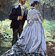 Monet's Bazille And Camille Poster