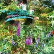 Monet's Bridge In Spring Poster