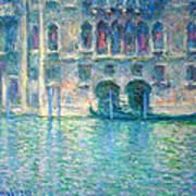 Monet's Palazzo De Mula In Venice Poster