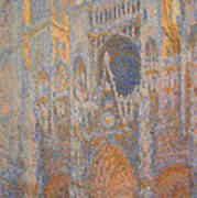Monet's Rouen Cathedral -- West Facade Poster