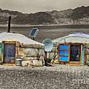 Mongolian Yurts Poster