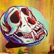 Monkey Skull Poster