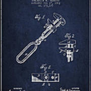 Monkey Wrench Patent Drawing From 1883 Poster