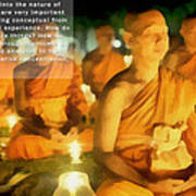 Monks In Meditation Poster