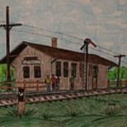 Monon Ellettsville Indiana Train Depot Poster
