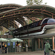 Monorail Depot Disneyland 02 Poster