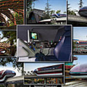 Monorail Disneyland Collage Poster