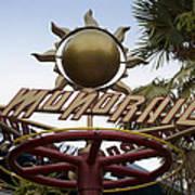 Monorail Signage Disneyland Poster