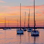 Monroe Harbor Sunrise Poster