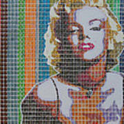 Monroe In Stamps Poster