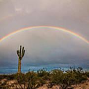Monsoon Double Rainbow Poster
