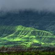 Monsoon Over Mountains Poster