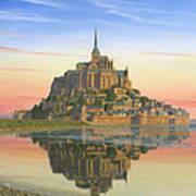 Mont Saint-michel Morn Poster by Richard Harpum