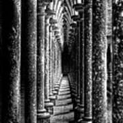 Mont St Michel Pillars Poster