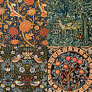 Montage Of Morris Designs Poster