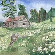 Montana Cabin Poster