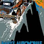 Monte Carlo Rallye Automobile Poster