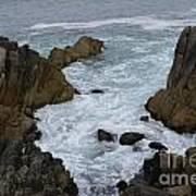 Monterey Rocks - California Poster