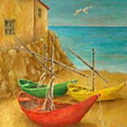 Monterosso On Riviera Di Levante Poster