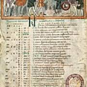 Month Of December, Anglo-saxon Calendar Poster