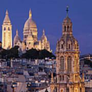 Montmartre Twilight Poster