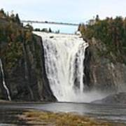 Montmorency Waterfall - Canada Poster