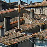 Tile Rooftops Of France Poster
