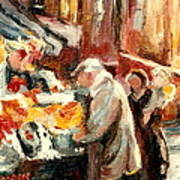 Montreal Market Scene Marche Atwater Poster