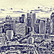 Montreal Skyline From Mount Royal Two Poster by Jo Ann