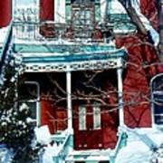 Montreal The Esplanade In Winter Poster