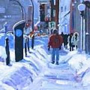 Montreal Winter Downtown Poster
